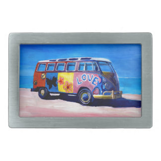 The surf Bus Series - The Love Surf Bus Rectangular Belt Buckles