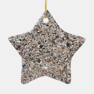 The surface of the sea coast from the wreckage ceramic star ornament
