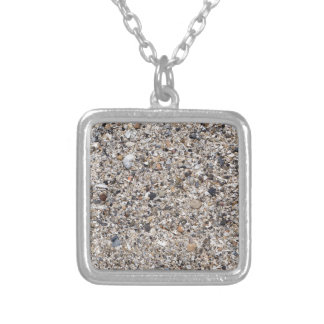 The surface of the sea coast from the wreckage silver plated necklace