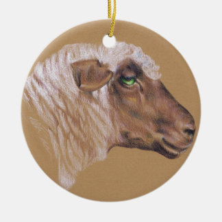 The Surly Sheep Ceramic Ornament