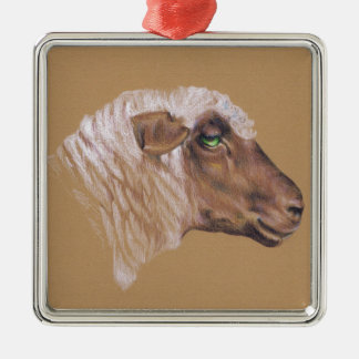 The Surly Sheep Metal Ornament