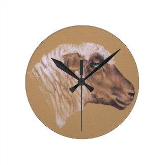 The Surly Sheep Round Clock