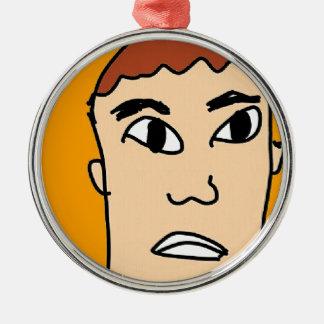 the surprise men metal ornament