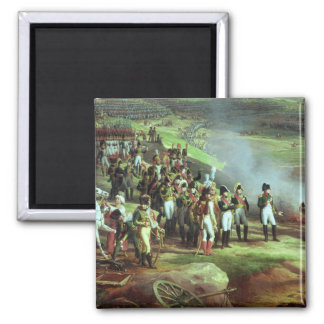 The Surrender of Ulm,  detail of Napoleon, 1815 Square Magnet