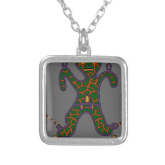 The Suspended Man Silver Plated Necklace