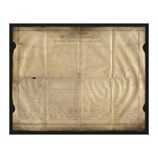 The Sussex Declaration of Independence (c. 1780) Canvas Print
