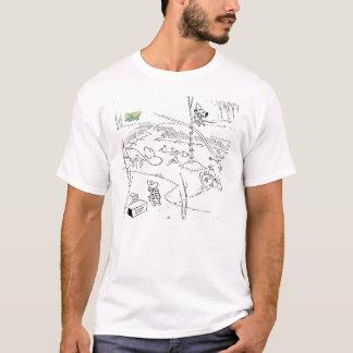 The Swamp Birds Eye View B&W T-Shirt