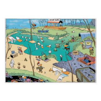 The Swamp Birds Eye View Poster