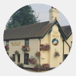 The Swan Inn, Swan Green, Lyndhurst, Hampshire, U. Classic Round Sticker