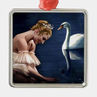 The Swan Metal Ornament