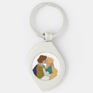 The Swan Princess Kiss Keychain