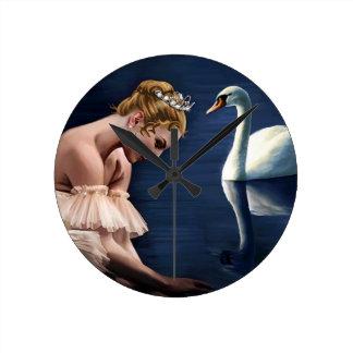 The Swan Round Clock