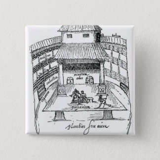 The Swan Theatre, Southwark 2 Inch Square Button