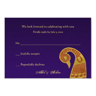 "The SwanWedding Respone Cards 3.5"" X 5"" Invitation Card"
