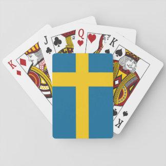 The Swedish flag Poker Deck