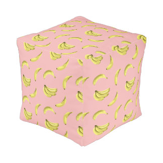 The Sweet Banana Vector Seamless Pattern Pouf