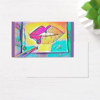 The sweet lips but business card