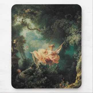 THE SWING  green pink Mouse Pad
