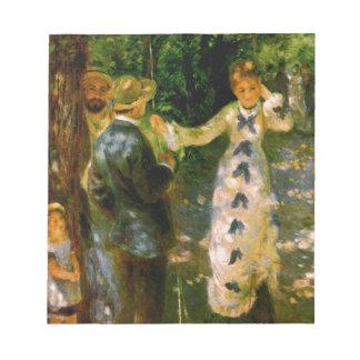 The Swing, Pierre Auguste Renoir Notepad