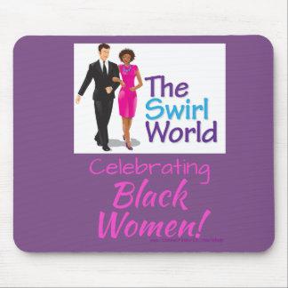 The Swirl World Logo Mouse Pad - Purple
