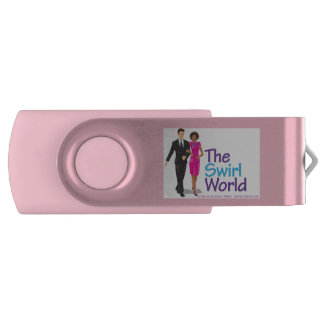 The Swirl World USB Flash Drive - Pink