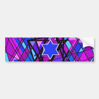 The swirling Star of David. Bumper Sticker