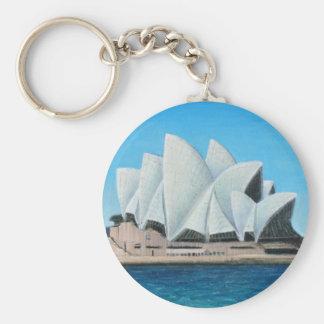 The Sydney Opera House 2 Basic Round Button Keychain
