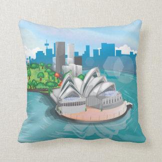 The Sydney Opera House Throw Pillow