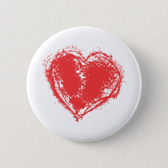 The symbol of love 2 inch round button