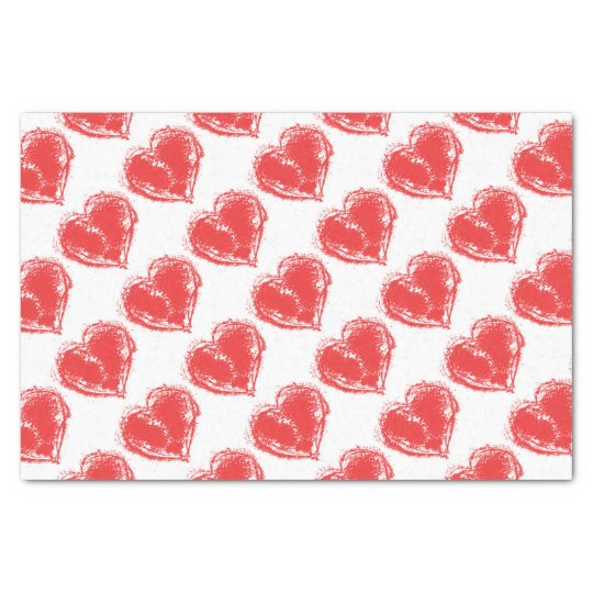 The symbol of love tissue paper