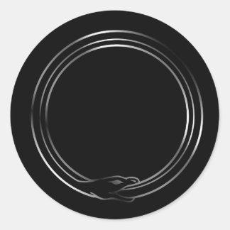 The symbol of Ouroboros snake Classic Round Sticker