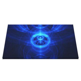 The Symbol of Purpose, Blue Glass Fractal Circles Canvas Print