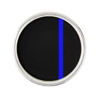 The Symbolic Thin Blue Line on a black decor Lapel Pin