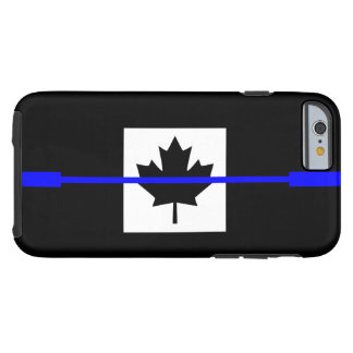 The Symbolic Thin Blue Line on Canadian Flag Tough iPhone 6 Case