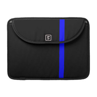 The Symbolic Thin Blue Line Vertical Black Sleeve For MacBook Pro