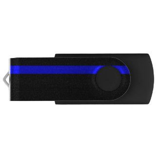 The Symbolic Thin Blue Line Vertical Style USB Flash Drive