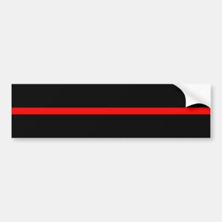 The Symbolic Thin Red Line Decor Bumper Sticker