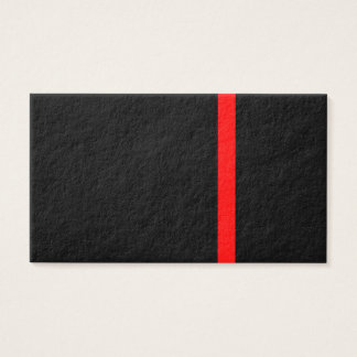 The Symbolic Thin Red Line Decor Business Card