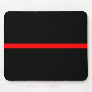 The Symbolic Thin Red Line Decor Mouse Pad