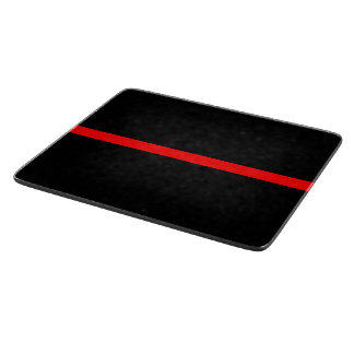 The Symbolic Thin Red Line Graphic Cutting Board