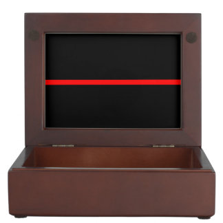 The Symbolic Thin Red Line Graphic on a Keepsake Box