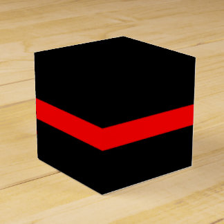 The Symbolic Thin Red Line Horizontal Black Favor Box