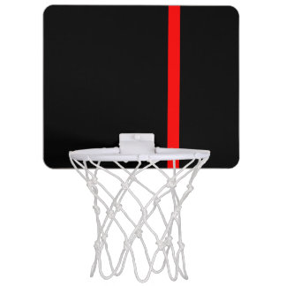 The Symbolic Thin Red Line on a black decor Mini Basketball Hoop
