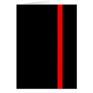 The Symbolic Thin Red Line on Black Card