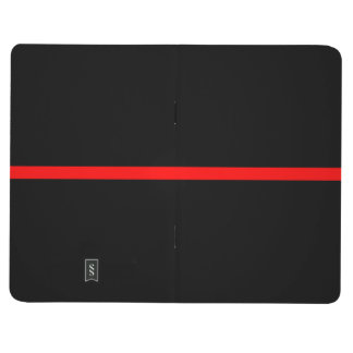 The Symbolic Thin Red Line on Solid Black Journal