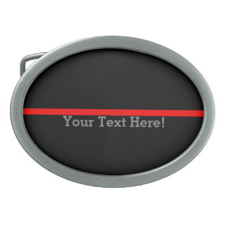 The Symbolic Thin Red Line Personalize This Belt Buckles