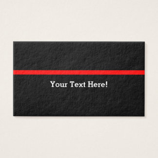 The Symbolic Thin Red Line Personalize This Business Card