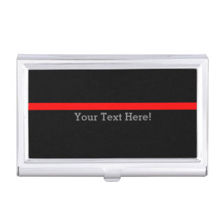 The Symbolic Thin Red Line Personalize This Business Card Holder