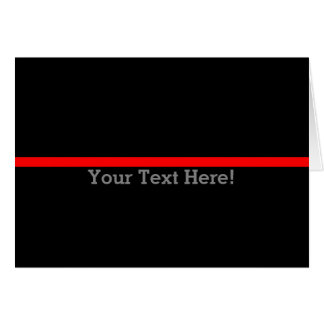 The Symbolic Thin Red Line Personalize This Card