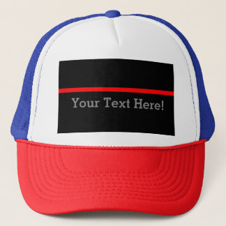 The Symbolic Thin Red Line Personalize This Trucker Hat